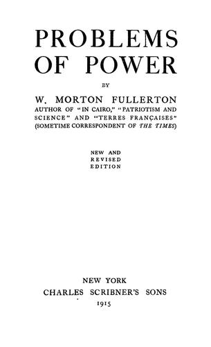 Problems of power