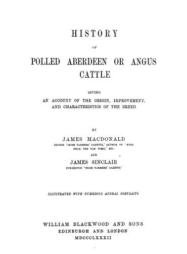 History of polled Aberdeen or Angus cattle by Macdonald, James