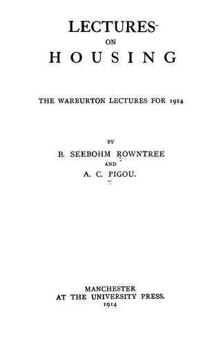 Lectures on housing …