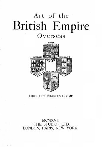 Art of the British empire overseas by Charles Holme