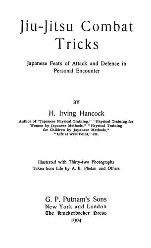 Jiu-jitsu combat tricks by Harrie Irving Hancock