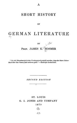 A short history of German literature