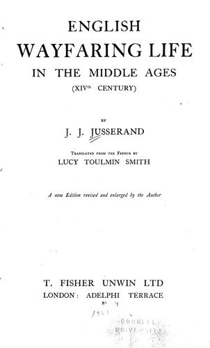 English wayfaring life in the middle ages (XIVth century)