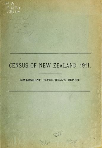 Report on the results of a census of the Dominion of New Zealand by New Zealand. Dept. of Statistics.
