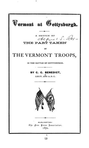 Vermont at Gettysburgh by George Grenville Benedict