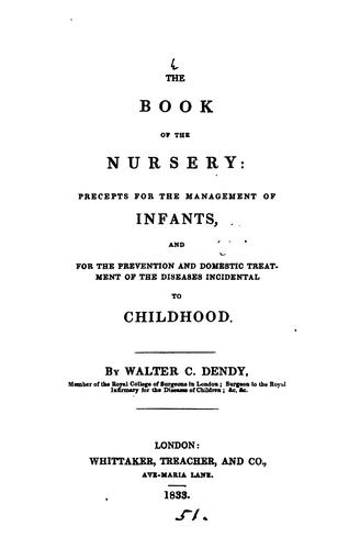 The book of the nursery by Walter Cooper Dendy