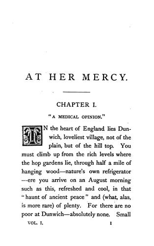 At her mercy, by the author of 'Lost sir Massingberd' by James Payn