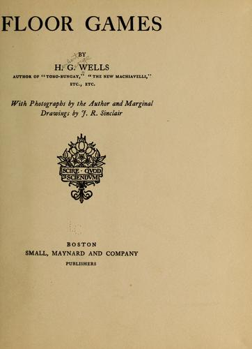 Floor games by H. G. Wells