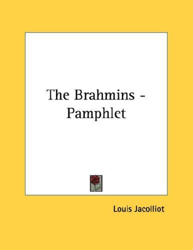 The Brahmins - Pamphlet by Louis Jacolliot