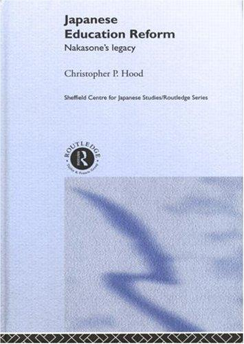 Japanese Education Reform by Christophe Hood