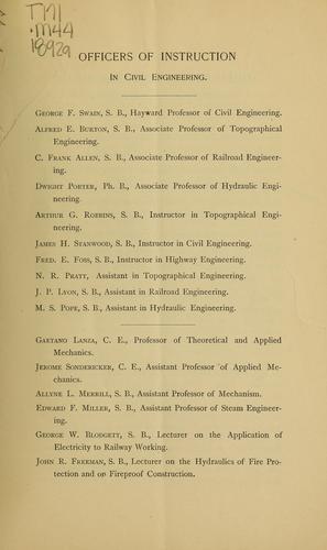 Department of Civil Engineering by Massachusetts Institute of Technology