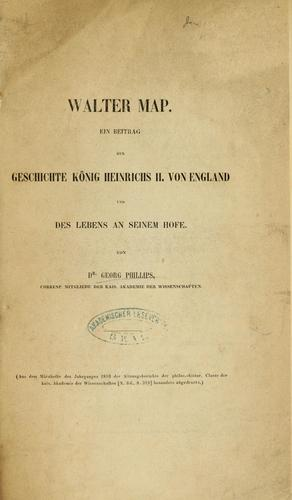 Walter Map by Georg Phillips