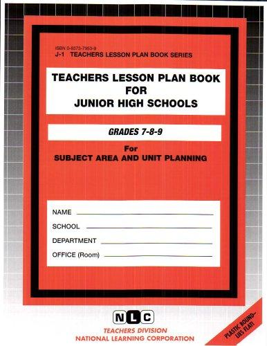 Teachers Lesson Plan Book For Junior High Schools by