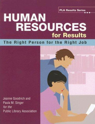 Human Resources for Results by Jeanne Goodrich, Paula M. Singer