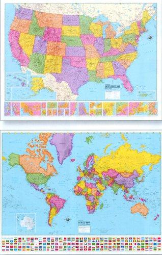 Hammond Delux Collectors Laminated Wall Maps by Hammond World Atlas