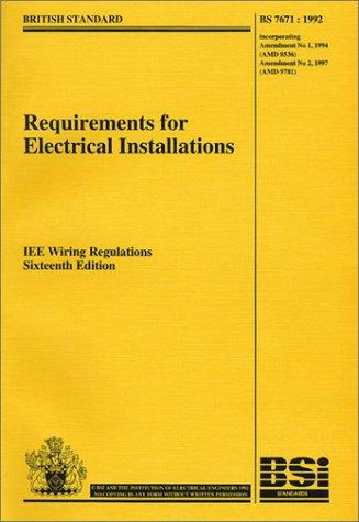 Requirements for Electrical Installations BS 7671