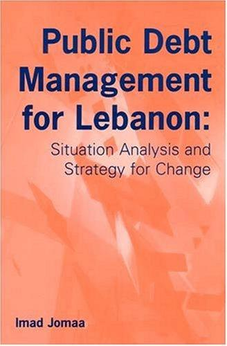 Public Debt Management for Lebanon by Imad Jomaa