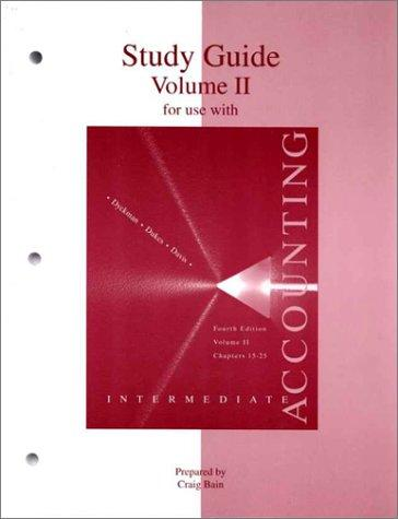 Study Guide, Volume 2 To Accompany Intermediate Accounting by Charles Davis