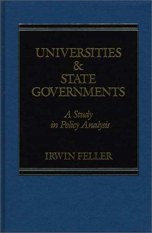 Universities and State Governments by Irwin Feller