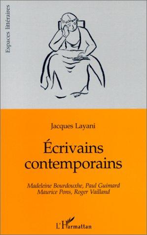 Ecrivains contemporains by Jacques Layani