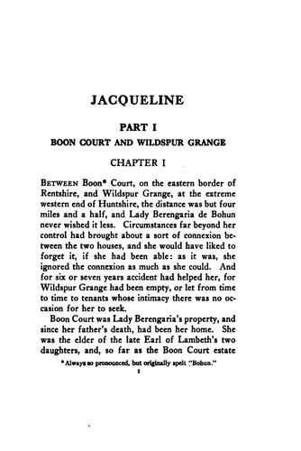 Jacqueline by John Ayscough