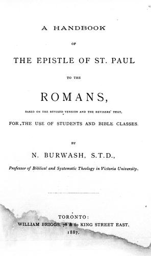 A handbook of the Epistle of St. Paul to the Romans