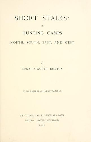 Short stalks by Edward North Buxton