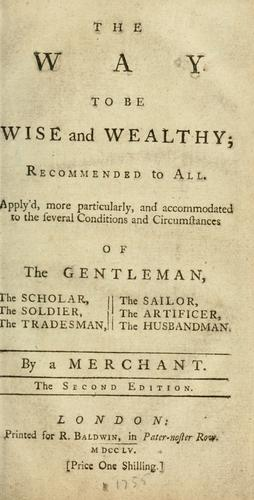 The way to be wise and wealthy by J. S.