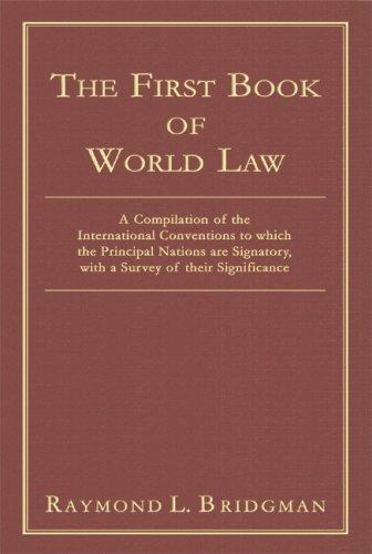 The first book of world law